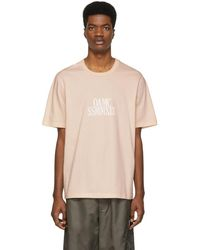 OAMC - Pink Logo Roman Numeral T-shirt - Lyst
