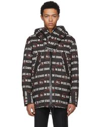 Sacai - Black Stasis As To Vector Coat - Lyst