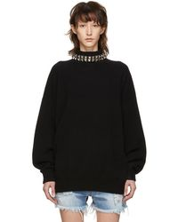 Alexander Wang - Black Studded Turtleneck Pullover - Lyst