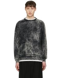 Robert Geller - Black Acid Wash Pullover - Lyst
