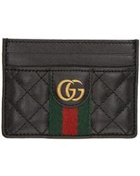 Gucci - Black Trapuntata Card Holder - Lyst