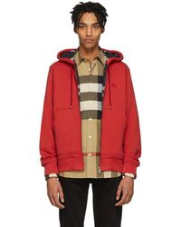 Burberry - Red Core Hoodie - Lyst