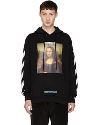 Off-White c/o Virgil Abloh - Ssense Exclusive Black Monalisa Hoodie - Lyst