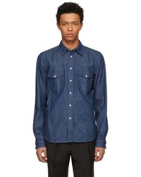 PS by Paul Smith - Blue Tailored Denim Shirt - Lyst