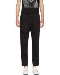 BOSS - Black Keen Contrast Stripe Trousers - Lyst
