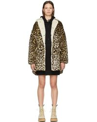 R13 - Brown Leopard Hunting Coat - Lyst