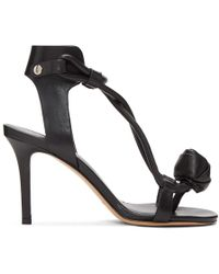 Isabel Marant - Black Ablee Tulip Bow Sandals - Lyst