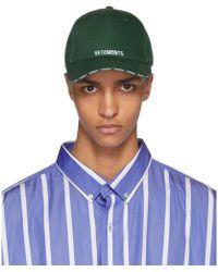Vetements - Green Logo Baseball Cap - Lyst