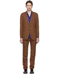 Dries Van Noten - Black And Orange Slim Kline Suit - Lyst