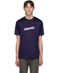 Lanvin - Blue Bar Logo T-shirt - Lyst