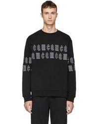 McQ - Black Gothic Repeat Logo Clean Sweatshirt - Lyst