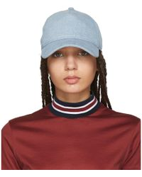 Rag & Bone - Blue Denim Marilyn Baseball Cap - Lyst