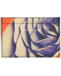 Paul Smith - Black Collage Rose Print Card Holder - Lyst