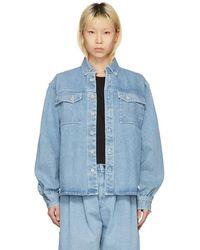 Gosha Rubchinskiy - Blue Bleached Denim Shirt - Lyst