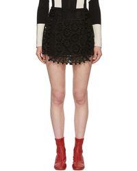Isabel Marant - Black Broderie Anglaise Krista Skirt - Lyst