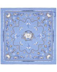Maison Kitsuné - Blue Cotton Bandana - Lyst