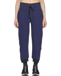 adidas By Stella McCartney - Navy And Black Essentials Zip Joggers - Lyst