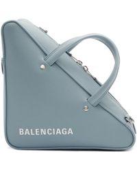 Balenciaga - Blue Small Triangle Bag - Lyst