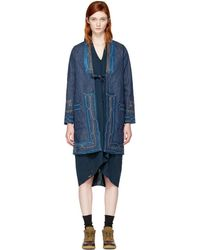 Visvim - Blue Denim Ruunpe Coat - Lyst