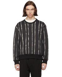 3.1 Phillip Lim - Black And White Painted Stripes Sweatshirt - Lyst