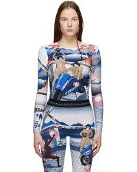 Marine Serre - Multicolour Helene Jeudy Edition Graphic Long Sleeve T-shirt - Lyst