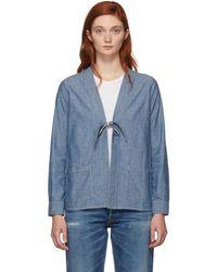 Visvim - Blue Denim Lhamo Jacket - Lyst