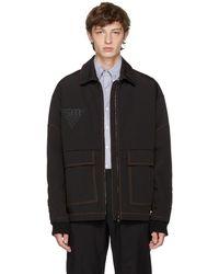 Stella McCartney - Black Moto Stitch Logo Jacket - Lyst