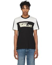 Givenchy - Black And White Fast Love Jersey T-shirt - Lyst