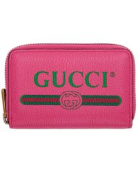 Gucci - Logo Small Grained Leather Purse - Lyst