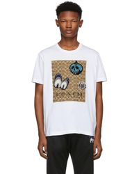 COACH - White Disney Edition Patches Signature T-shirt - Lyst