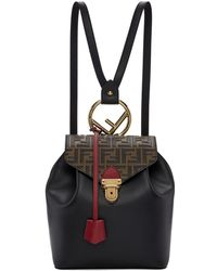 Fendi - Black Forever Flap Backpack - Lyst