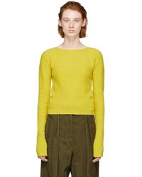 Lemaire - Yellow Fitted Sweater - Lyst