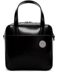 Kara - Black Leather Small Brick Bag - Lyst