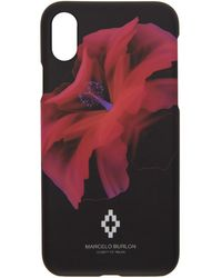 Marcelo Burlon - Black And Red Flower Iphone X Case - Lyst