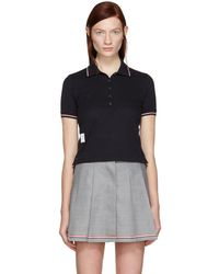 Thom Browne - Navy Short Sleeve Polo - Lyst