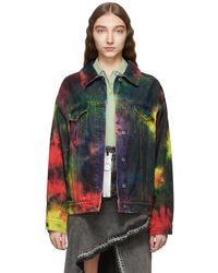 MSGM - Multicolour Denim Tie-dye Jacket - Lyst