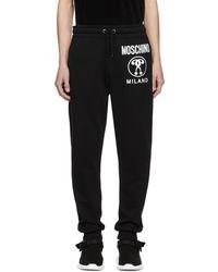 Moschino - Black Logo Lounge Pants - Lyst