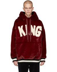 Dolce & Gabbana - Red Fuzzy King Dgmillennials Hoodie - Lyst