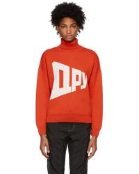 Gosha Rubchinskiy - Red Graphic Turtleneck - Lyst