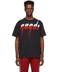 Gucci ブラック ロゴ T シャツ