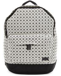 Bao Bao Issey Miyake - White And Black Daypack Backpack - Lyst