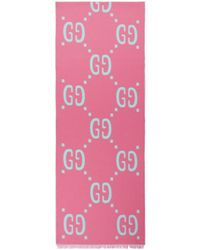 Gucci - Pink Gg Freedom Scarf - Lyst