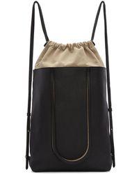Maison Margiela - Black Leather Backpack - Lyst