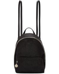 Stella McCartney - Black Mini Falabella Backpack - Lyst
