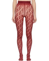 Fendi - Red Forever Tights - Lyst