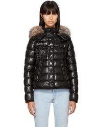 Moncler | Black Down Fur Armoise Jacket | Lyst