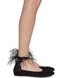 Ann Demeulemeester - Black Feather Ballerina Flats - Lyst