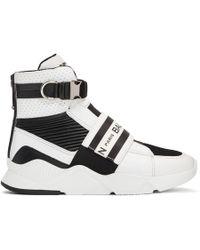 Balmain - Black And White Exton Sneakers - Lyst