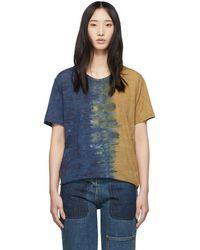 Raquel Allegra - Tan Jersey Rainbow Tie-dye Signature Boyfriend T-shirt - Lyst