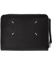 Maison Margiela | Black Leather Zip Wallet | Lyst